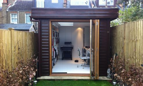 This Garden Office fits perfectly into this London property. What better way to avoid a lengthy commute or parking charges, and add some extra quality space at the same time?