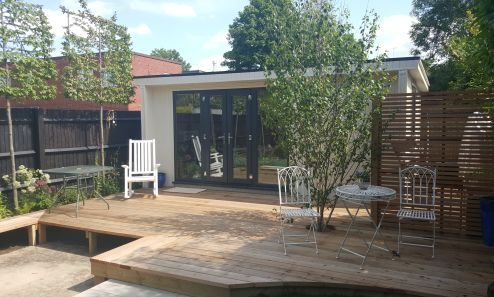 Contemporary Garden Room perfect for a variety of uses including as a garden retreat, for studio space, or as occasional accommodation 
