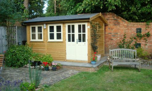 12 x 8 Traditional Office with double doors. 